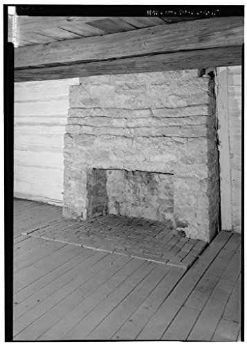 8 x 12 Photo of 15. Interior north room, close view of fireplace looking in a northwest to southeast direction - The Hermitage, Alfred's Cabin, 4580 Rachel's Lane, Hermitage, Davidson Count 1852 33a by Vintography