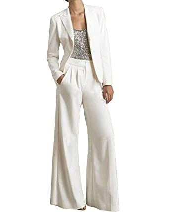 9dc034d5e9a5 Fitty Lell Women s Three Pieces Mother of The Bride Pant Suits for Wedding Mother  Suits with