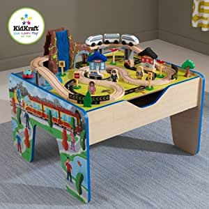 Share Facebook Twitter Pinterest & Amazon.com: 48 Piece KidKraft Rapid Waterfall Train Set and Wooden ...
