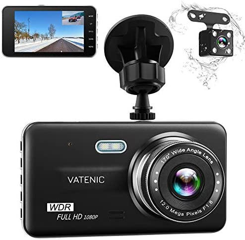 Dual Dash Cam Car Dashboard Camera Recorder FHD 1080P Front and Rear Cameras,Driving Loop Recording,4.0 IPS Screen 170 Wide Angle, WDR,Parking Monitor, G-Sensor, Night Vision, Motion Detection