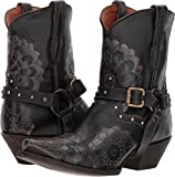 Dan Post Western Boots Womens Leslie 7.5 M Black Floral DP3545
