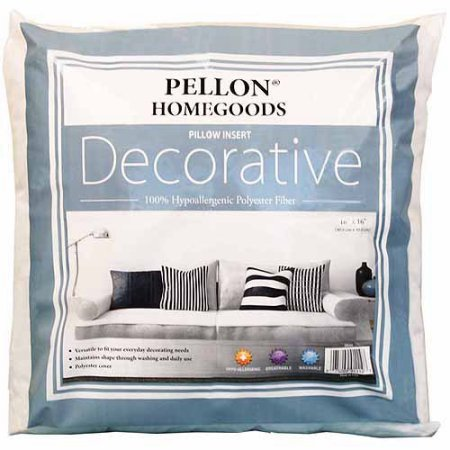 Pack of 3 - Pellon Homegoods Decorative Pillow Insert 16'' x 16'' by Pellon (Image #1)