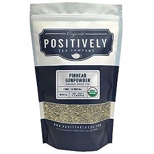 Organic Pinhead Gunpowder Green Tea, Loose Leaf Bag, Positively Tea (1 lb.)