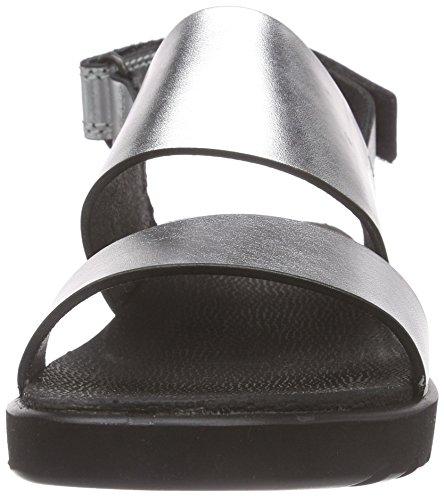 Compensé Silber Argent Freja silver Sandal Femme Talon Sandales À Metallic02097 Ecco wRXaxPqx