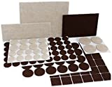 #8: X-PROTECTOR Premium TWO COLORS Pack Furniture Pads 133 piece! Felt Pads Furniture Feet Brown 106 + Beige 27 various sizes – BEST wood floor protectors. Protect Your Hardwood & Laminate Flooring