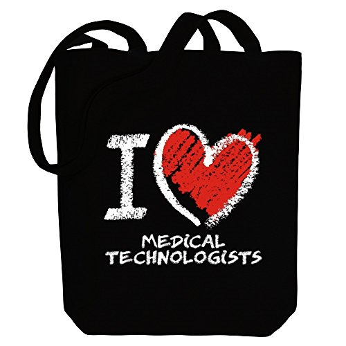 Canvas Tote Bag I chalk love Occupations Medical Idakoos style Technologists 0B8cq