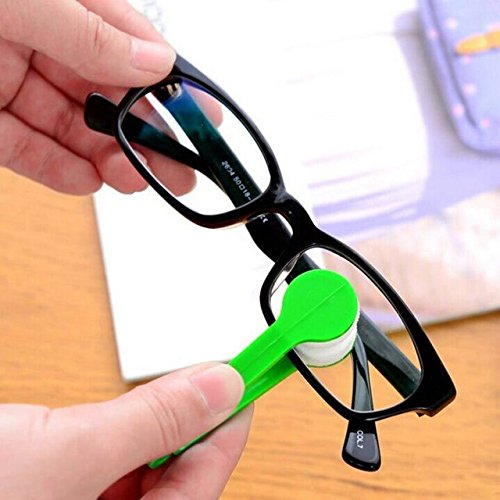Spectacle Cleaner - Mini Cleaning Brush - Wipes For Eye Glasses - 1 pcs Multifunctional multicolor portable glasses wipe spectacles cleaning glasses wiper cloth Clean Wipe (Best Generic Eye Glass Cleaners)