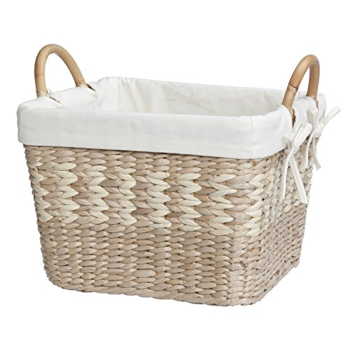 Natural Maize Storage Basket (Creative Bath Products Arcadia Collection Storage Crate with Liner, Natural/Bleach)