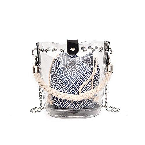 Jelly Azul Moda Con Simple Bolsa Una Blue Hombro Bolsa Damas Gwqgz De Y Las xEqCw7anHA