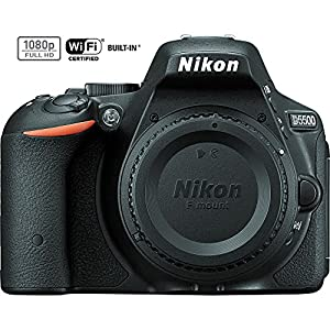 Nikon D5500 Black DX-format Digital SLR Camera Body - (1544B) (Certified Refurbished)