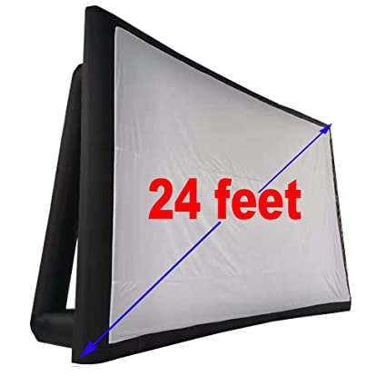 Pantalla de proyección de película inflable para exteriores de 24 ...