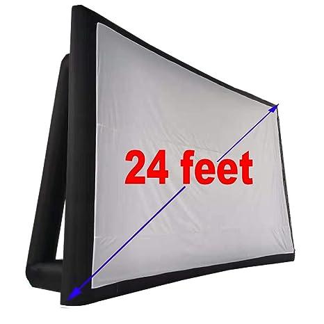 Amazon.com: Pantalla para proyector de película inflable de ...