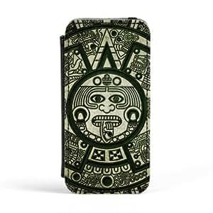 Mayan Naui Olin Carcasa Protectora Premiun PU en Cuero, con Tapa para Apple® iPhone 5 / 5s de DevilleArt + Se incluye un protector de pantalla transparente GRATIS