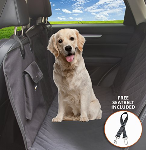 Dog Seat Cover with Mesh Window Screen-Design in USA-Premium Quality Waterproof Pet Seat Cover Car Seat Cover for Pets-Hammock- Durable Soft Back Seat Cover for Dogs BY CARSDGADGET