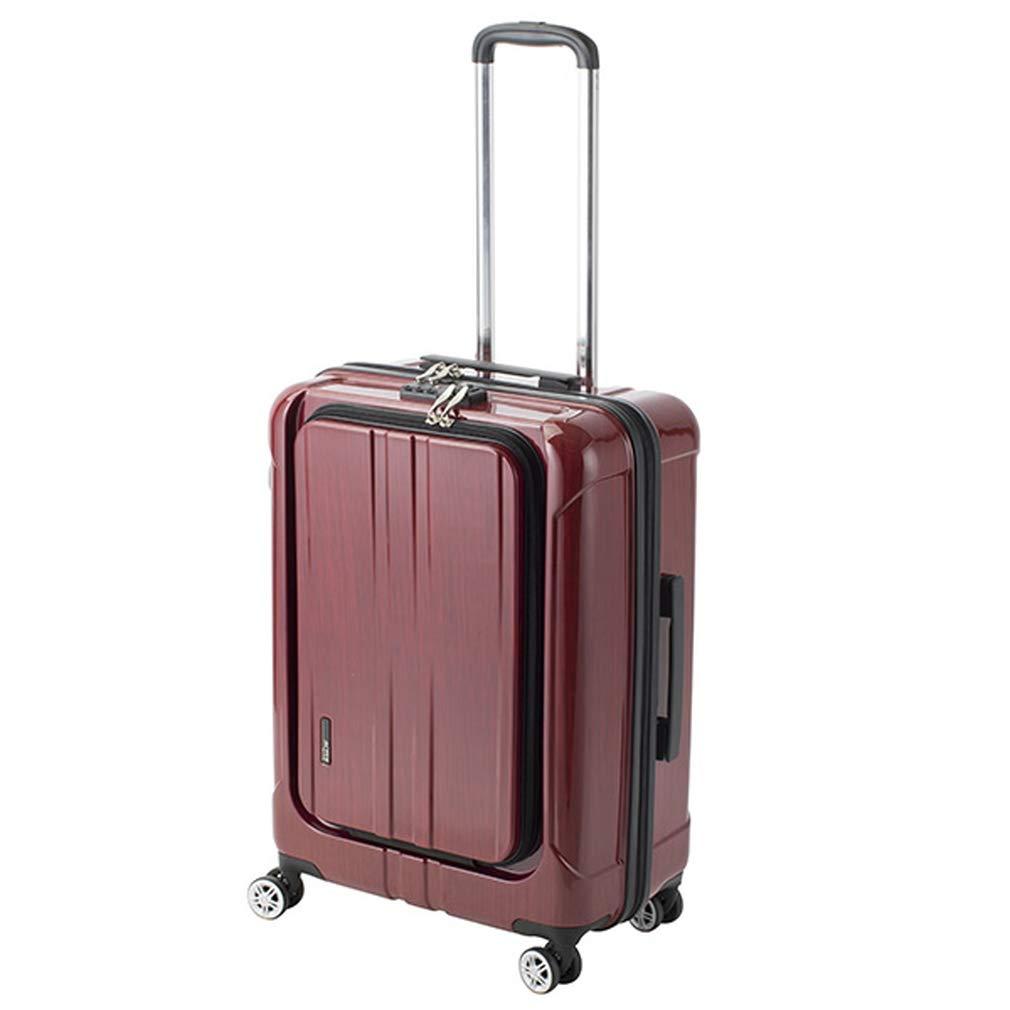 アクタス ACTUS フロントオープン ポライト 中型 Lサイズ 60L スーツケース 74-20353 レッド 【代引き不可】[bg]   B07KHXNCPX