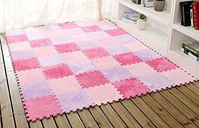 KIM88 6 Pc EVA Eco Puzzle Carpet Mosaic Tile Living Room Cushion Bedside Carpet Bathroom Floor Mat Bathroom Area Rugs