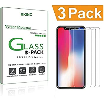iPhone X Screen Protector, iPhone 10 Screen Protector, [3-Pack] RKINC iPhone X Tempered Glass, Anti-Shatter for iPhone X iPhone 10 5.8-inch 2017 Released Version