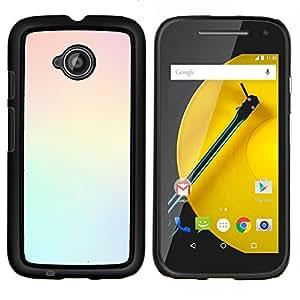 LECELL--Funda protectora / Cubierta / Piel For Motorola Moto E2 E2nd Gen -- colores claros trullo amarilla limpia en colores pastel --