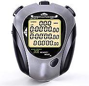 BizoeRade Digital Stopwatch Timer, 200 Lap Memory, Large Display, Backlight, Countdown, Metronome, Perfect for