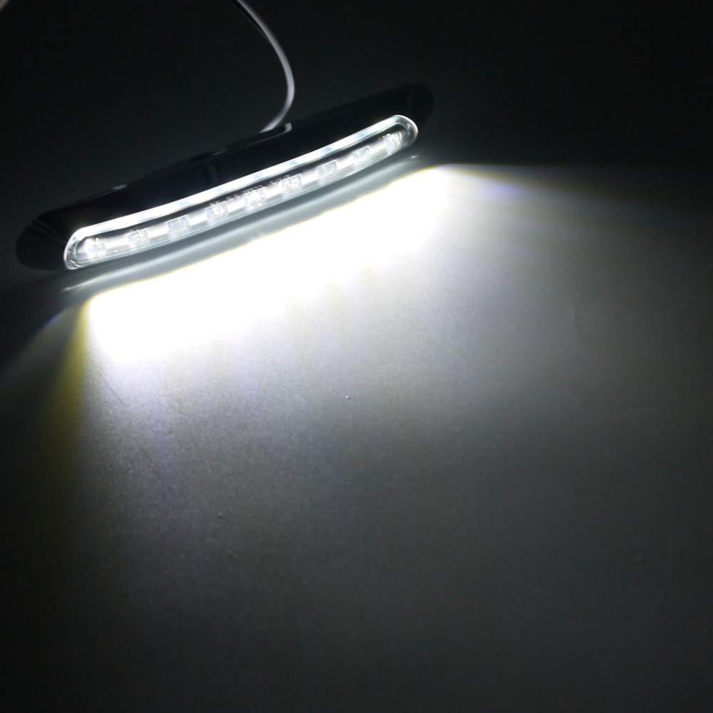 24V Bianco XZANTE 2Pz 9 LED Impermeabile uto Camion Camion Luce di Posizione Laterale Fanale Posteriore Luci Indicatore di Direzione Luci Rimorchio 12V