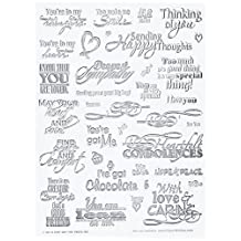 Hot Off The Press Acrylic Stamps in 6-Inch by 8-Inch Sheet, Heartfelt Greetings