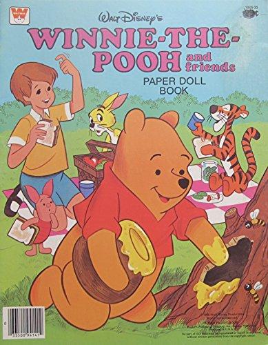 Walt Disney WINNIE the POOH and Friends PAPER DOLL BOOK (UNCUT) w 9 Card Stock DOLLS, Fashions & Accessories (1980 Western)