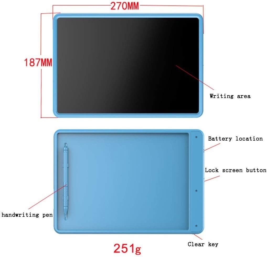Electronic Writing Board Color : Black Gifts Toys Writing Tablet LCD Drawing Board Graffiti Painting Screen Lock Button Teachers and Students Clearer Writing 12 Inch with Wireless Pen