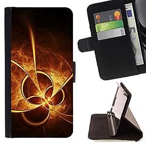 For Samsung Galaxy S6 EDGE (NOT S6) Case , Sun Fire extracto forma- la tarjeta de Crédito Slots PU Funda de cuero Monedero caso cubierta de piel