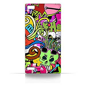AMC Design BlackBerry Z3 Graffiti Hip Hop 2 Design Case - Multi Color