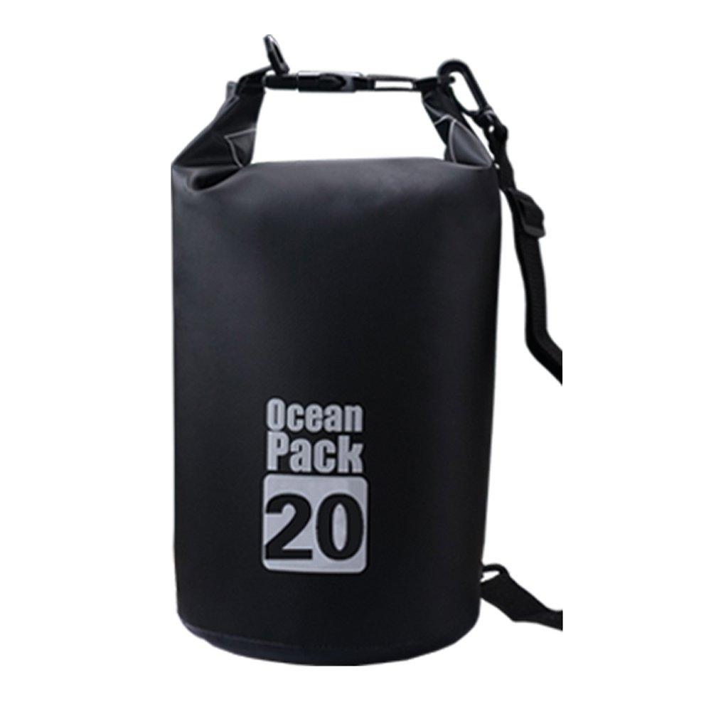 Bear Outdoor Dry Sack/Waterproof Bag for Boating, Kayaking, Hiking, Snowboarding, Camping, Rafting, Fishing and Backpacking 20L Black