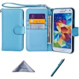 Wisdompro Galaxy S5 Case, Premium PU Leather 2-in-1