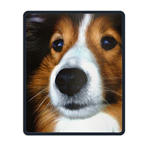 Personalized Rectangle Mouse Pad, Printed Pretty Sheltie,Non-Slip Comfortable Computer Mouse Pad]()
