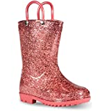 Chillipop Children's Glitter Rain Boots for Little Kids & Toddlers, Boys & Girls Rose Gold