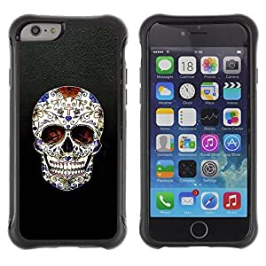 Be-Star Unique Pattern Anti-Skid Hybrid Impact Shockproof Case Cover For Apple iPhone 6 Plus(5.5 inches)( Skull Cross Christian Death Bling Biker ) Kimberly Kurzendoerfer