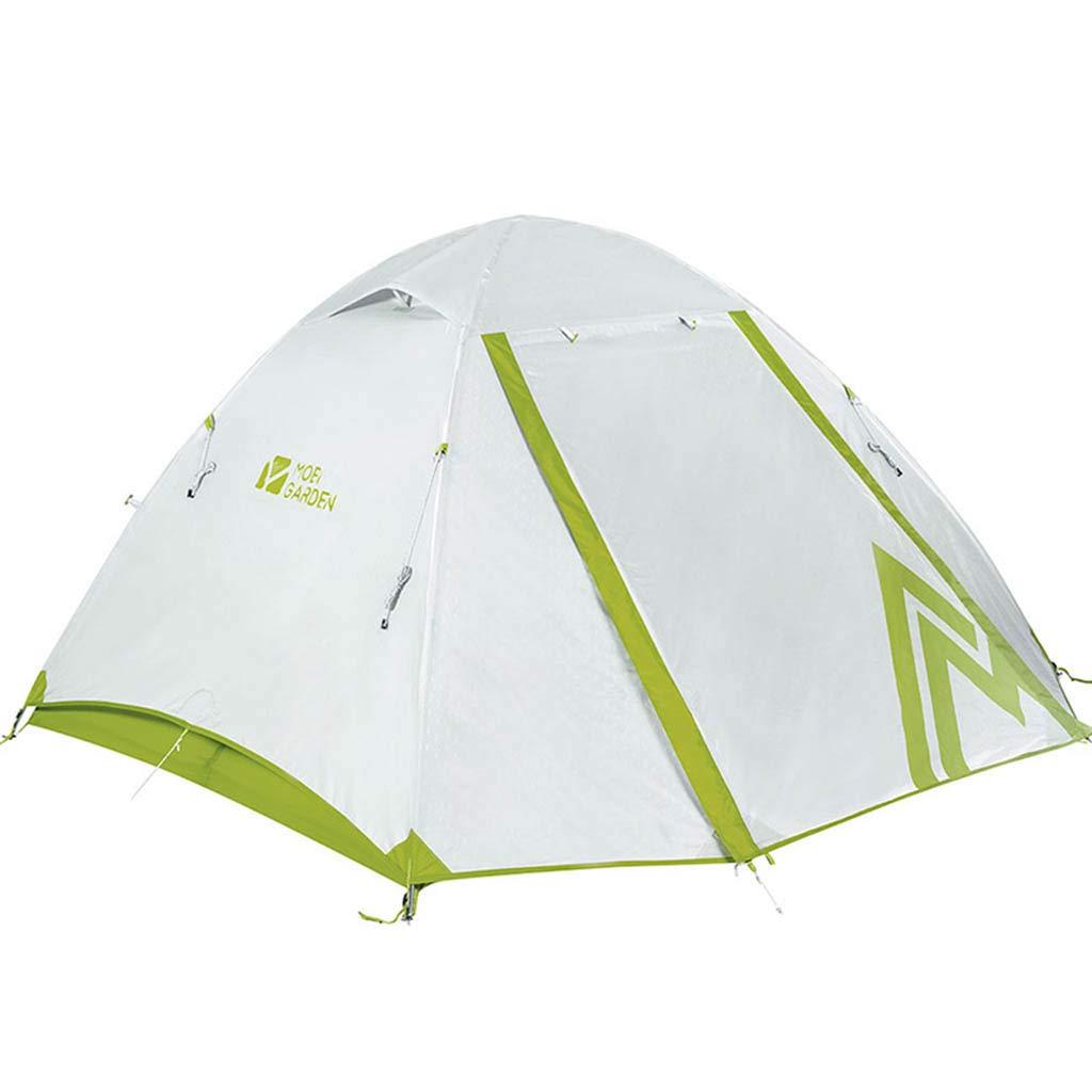 アウトドア登山2-3人用キャンプキャンプ用防風性防風性 三季アルミポールダブルテント(3色オプション) 280cm Green B07P4DFNSC