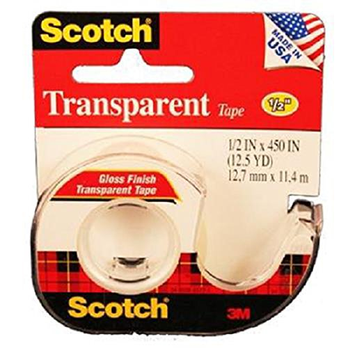Product Of Scotch, Transparent Tape Red, Count 1 - Scotch Tap / Grab Varieties & Flavors