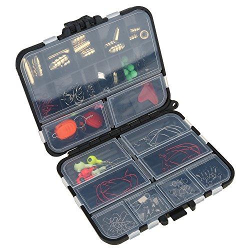 20 Kinds 128Pcs/Lot Fishing Tools Kit Hooks Swivels Stoppers Connectors Box Kit by VGEBY
