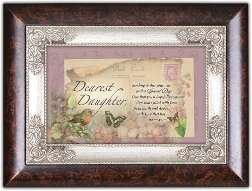 Cottage Garden Italian Inspired Music Box - Special Day Daughter Plays Wind Beneath My Wings