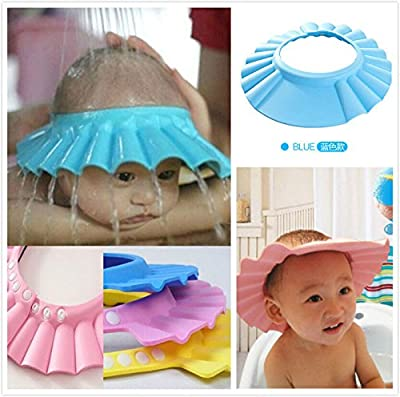 Baby Shower Cap Kids Shower Cap - Adjustable Baby Hat Toddler Kids Shampoo Bath Bathing Shower Plasc Cap Wash Hair Shield Direct Visor Caps For Children Baby Care -Baby Shampoo Cap