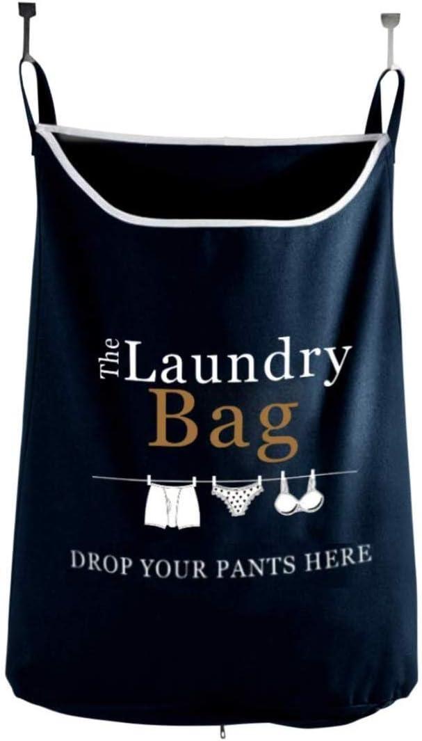 Drop Your Pants Here - Hanging Laundry Hamper Bag with Free Door Hooks