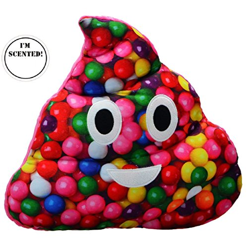 TOP TRENZ Emojicon Gumball Scented Poop Pillow