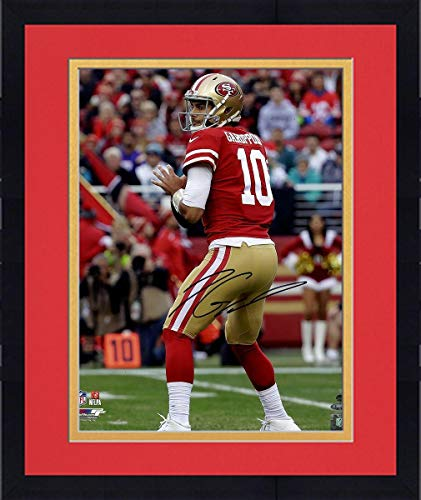 Framed Jimmy Garoppolo San Francisco 49ers Signed 16x20 Photograph - Steiner Sports Certified - Autographed NFL -