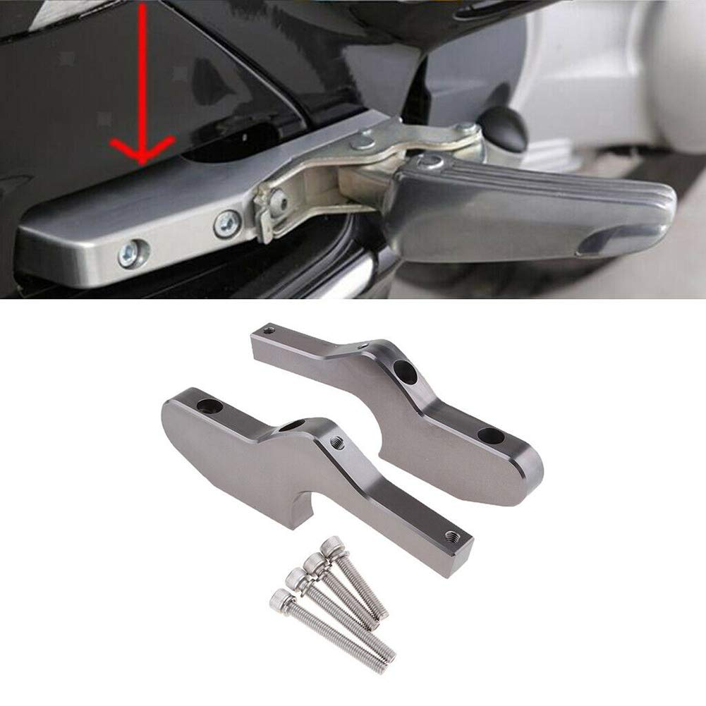 Zachao88 Passenger Foot Pegs Extensions,Universal CNC Extended Footpegs for Vespa GT GTS GTV 60 125 200 250 300ie