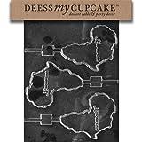 Dress My Cupcake DMCM140SET Chocolate Candy Mold, Africa/Kwanzaa Lollipop, Set of 6