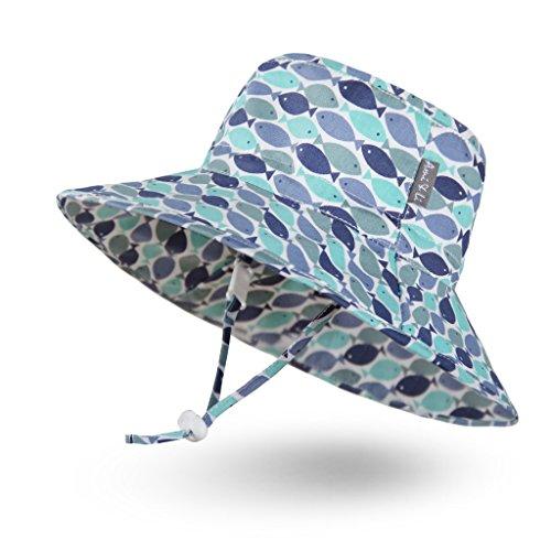 Ami&Li tots Adjustable Sunscreen Bucket Sun Protection Summer Hat for Baby Girl Boy Infant Kid Toddler Child UPF 50