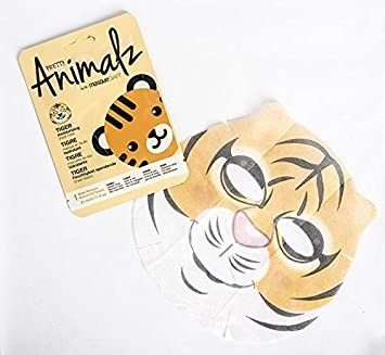 masque Bar Pretty Animalz Sheet Mask, TIGER Moisturizing Full Face Mask, Single Pack