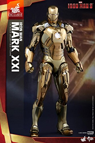 [Iron Man 3 Mark XXI Collectible Figure MMS341 (Gold Chrome Version)] (Iron Man Armor Suits)