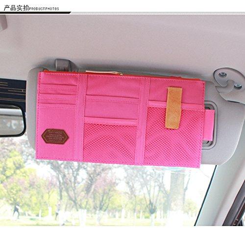 Idealgo Auto Car Visor Organizer Multi-purpose Car Organizer Card Storage Pouch Bag Card Storage Holder or Card/cell phone/pen/sunglass Holder Hot - Hot Sunglass