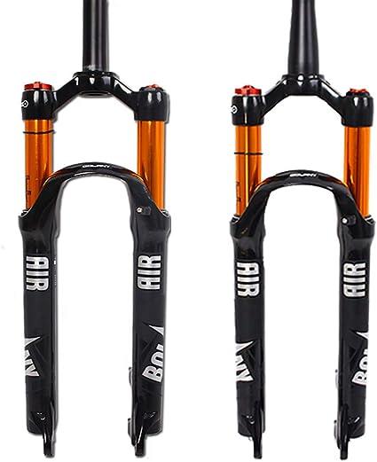 ZTZ 27.5 air Fork Suspension Forks Mountain Bike Front Fork Gas Fork Bicycle Shock Absorber Shoulder Control Tube Gas Fork White//Black +Black Inner Tube,27.5