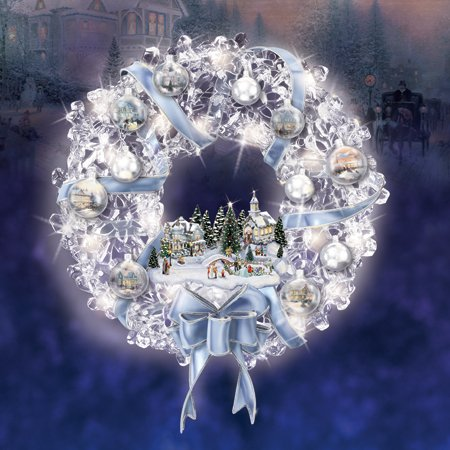 Thomas Kinkade Holiday Brilliance Crystal Wreath